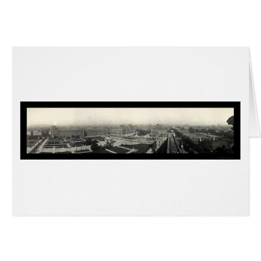 Paris & The Louvre Photo 1909 Greeting Card
