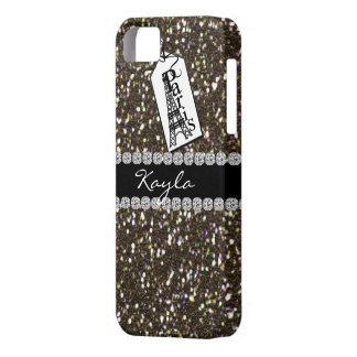 Paris Theme  BLACK Crystal BLING   IPHONE  5 Case iPhone 5 Cases