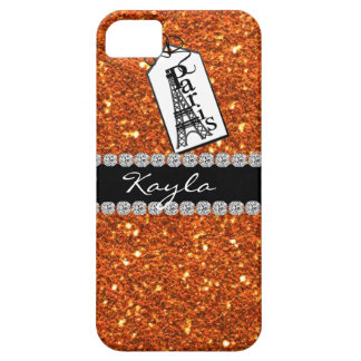 Paris Theme CORAL Crystal BLING  IPHONE  5 Case Case For The iPhone 5
