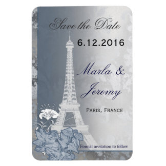 Paris theme save the date magnet