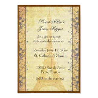 Paris Themed Wedding Invitation
