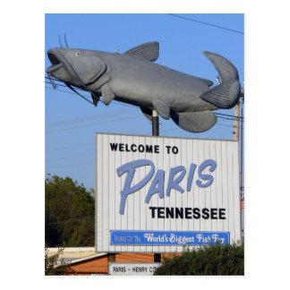 Paris TN - World s Biggest Fish Fry Postcards