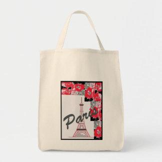 Paris Tote Grocery Tote Bag