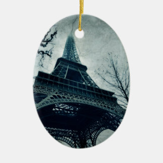 paris tour eiffel ceramic oval decoration