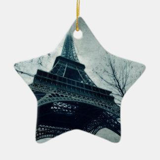 paris tour eiffel christmas ornament