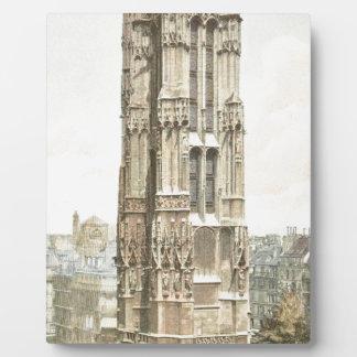 Paris, Tour Saint Jacques Plaque
