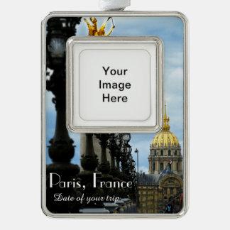 Paris Travel Christmas Ornament Customizable