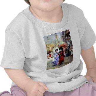 Paris Two Ladies Painting T-shirt