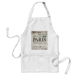 Paris Typography - Subway Style Standard Apron