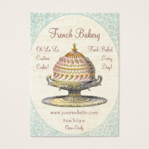 Vintage french business cards business card printing zazzle uk paris victorian vintage french bakery business card reheart Gallery