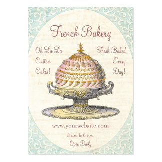Paris Victorian Vintage French Bakery Pack Of Chubby Business Cards