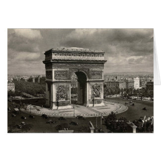 Paris vintage Arc de Triomphe 1943 Card