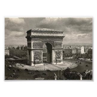 Paris vintage Arc de Triomphe 1943 Photographic Print