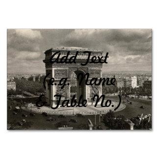 Paris vintage Arc de Triomphe 1943 Table Card