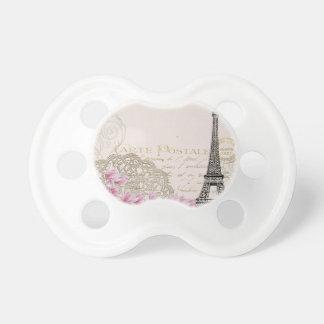 Paris vintage baby pacifiers