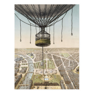 Paris Vintage Balloon Postcard