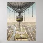 Paris Vintage Balloon Poster or Print