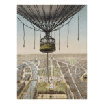 Paris Vintage Balloon Poster or Print