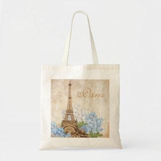 Paris Vintage Blue Hydrangea Bag