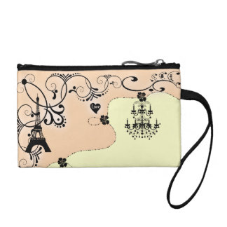 Paris vintage chic girly chandelier coin purse