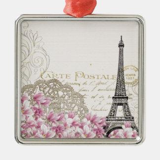 Paris vintage christmas ornament