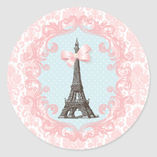 Paris Vintage Classic Round Sticker