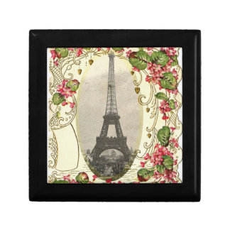Paris Vintage Love Card Small Square Gift Box