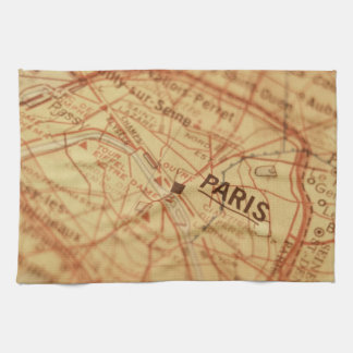 PARIS Vintage Map Kitchen Towel