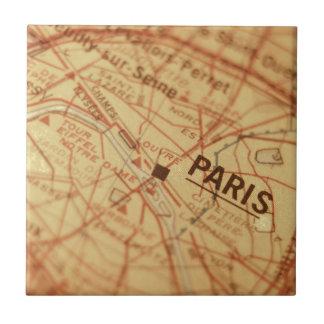PARIS Vintage Map Tile