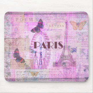 PARIS Vintage Parisian Theme art Mouse Mat