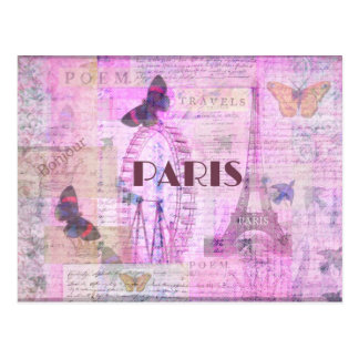 PARIS Vintage Parisian Theme art Postcard