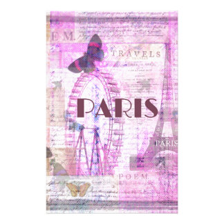 PARIS Vintage Parisian Theme art Stationery