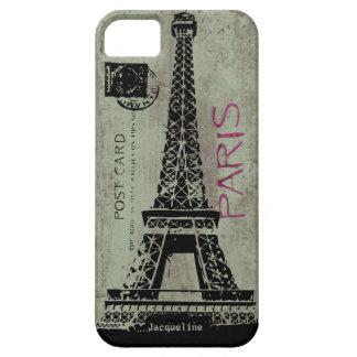 Paris Vintage Postcard Eiffel Tower iPhone 5 Cover
