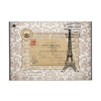 Paris Vintage Shabby Chic Eiffel Tower Cover For iPad Mini