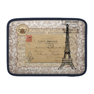 Paris Vintage Shabby Chic Eiffel Tower MacBook Sleeve