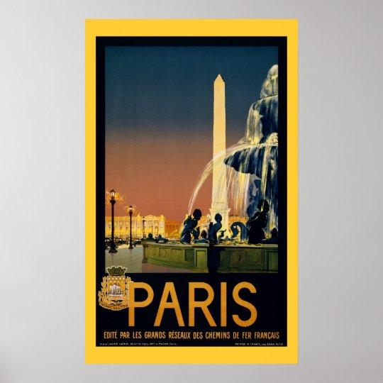 Paris - Vintage Travel Poster