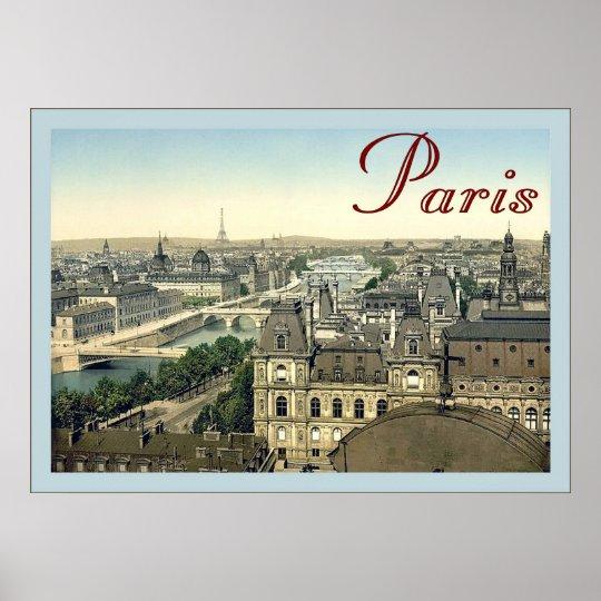 Paris ~ Vintage Travel Poster