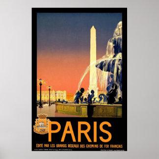 """""""Paris"""" Vintage Travel Poster"""