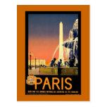Paris Vintage Travel Poster Postcards
