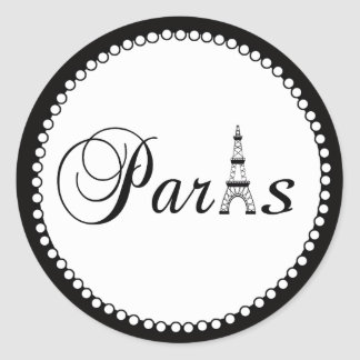 Paris Wedding Favour Cake Box Stickers