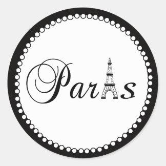 Paris Wedding Favour Cake Box Stickers