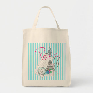 Paris with love and Eiffel Tower Tote Bag