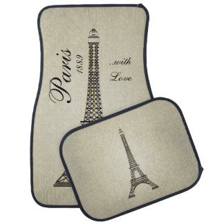 Paris with Love Car Mat
