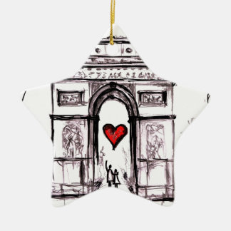 Paris with love christmas ornament