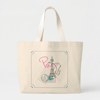 """Paris with love"" Eiffel Tower and Letter Bags"