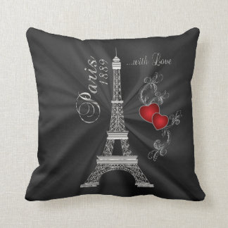 Paris with Love in Metallic Silver Cushion