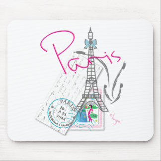 Paris with love mouse mat
