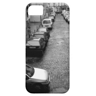 Paris woman with dog black & white iPhone 5 cases