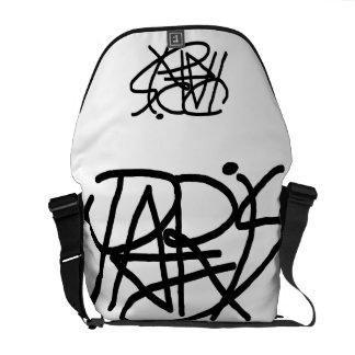Paris Writing Black Messenger Bag