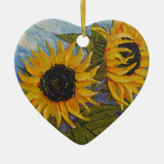 Paris' Yellow Sunflower Ornament